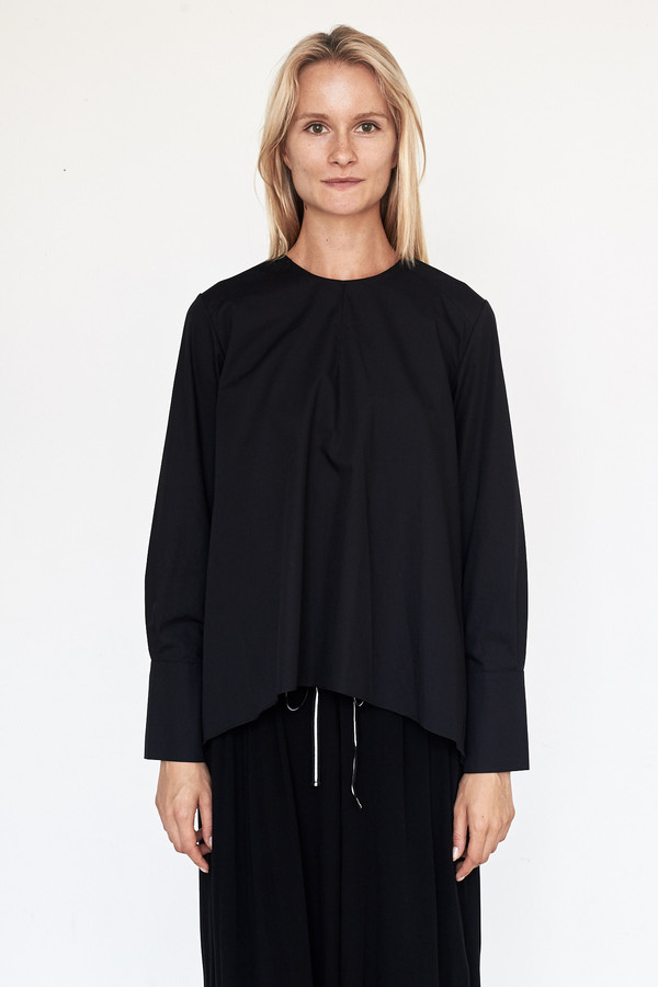 Fabiana Pigna Cotton Luisa Blouse - Black