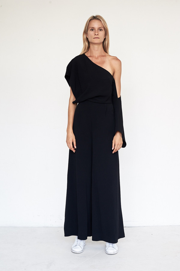 CF. Goldman Silk Drop Sleeve Jumpsuit