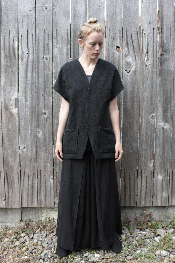 Mônom Wool Koyo Kimono Cardigan - Gray