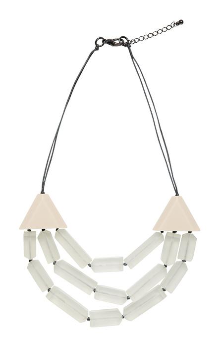 3 Row Tonal Bar Necklace