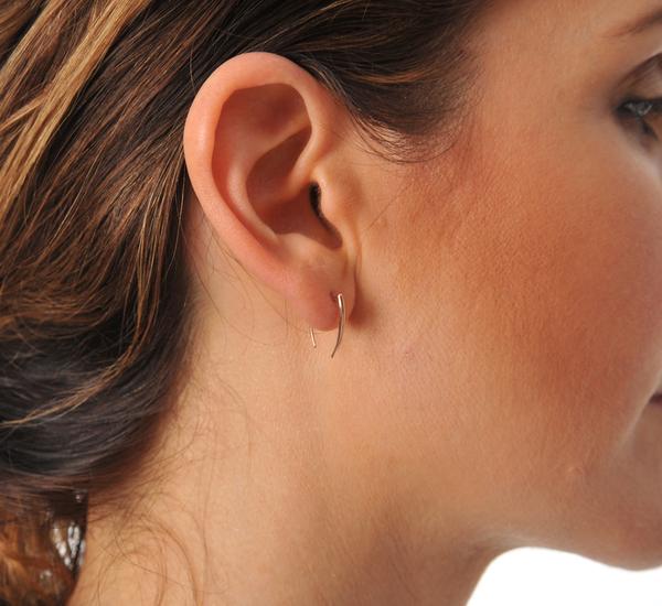 Gabriela Artigas 14K Rose Infinite Tusk Earrings