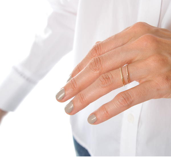 Gabriela Artigas 14K Yellow Mini Axis Pave Ring