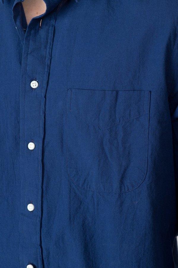 Men's Long Sleeve Indigo Chambray Shirt