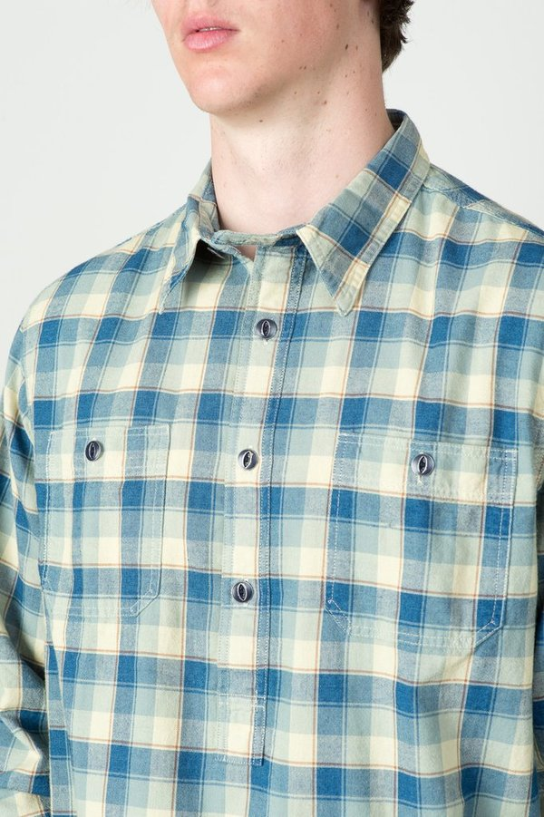 Men's Plaid Cotton Dobby Shirt