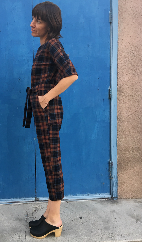 no. 6 plaid jumpsuit