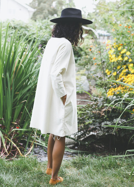 Black Crane - Painter Dress in Cream