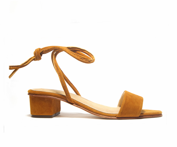 Zou Xou Sandal in Burnt Sienna Suede