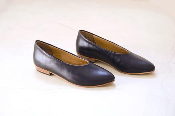 Zou Xou Glove Flat in Black Glaze