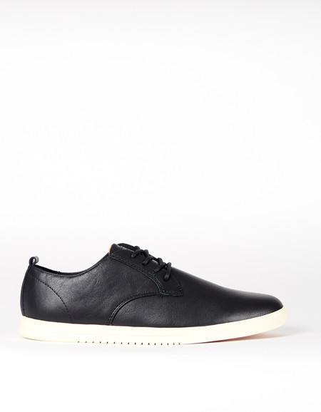 Men's Clae Ellington Black Tumbled Leather Cream