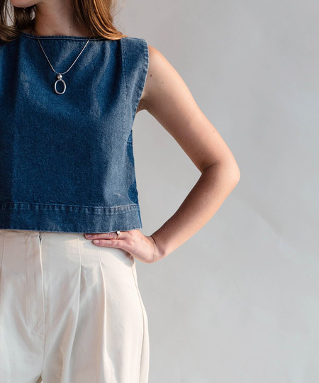 Ilana Kohn Kate Denim Crop