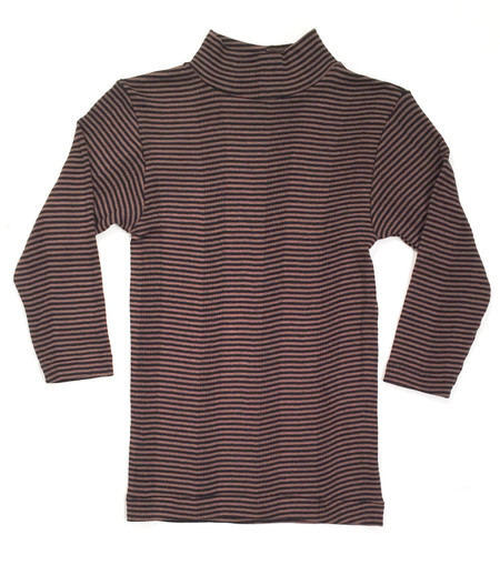 Curator Ida Stripe Mock Neck Top