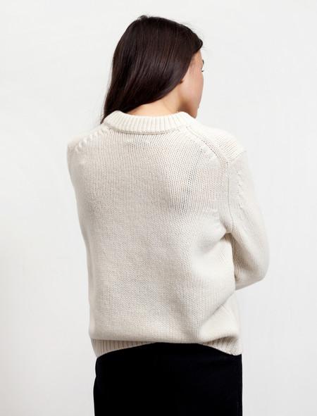 Acne Studios Womens Saidy Wool Pearl White