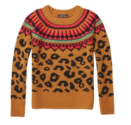 Maison Scotch Chunky Leopard Sweater