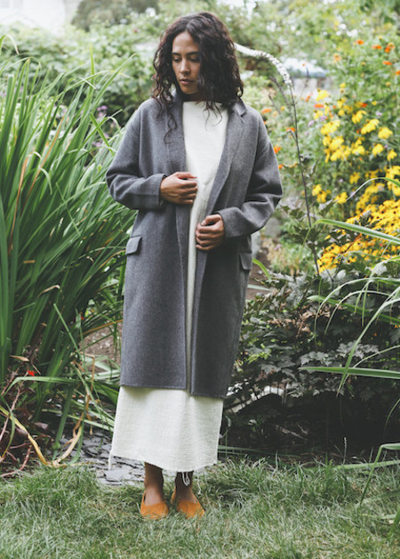 Achro - Handmade Long Coat in Gray