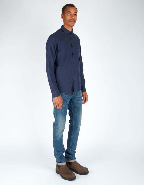 Men's Woolrich John Rich & Bros. Chamois Shirt Dark Navy