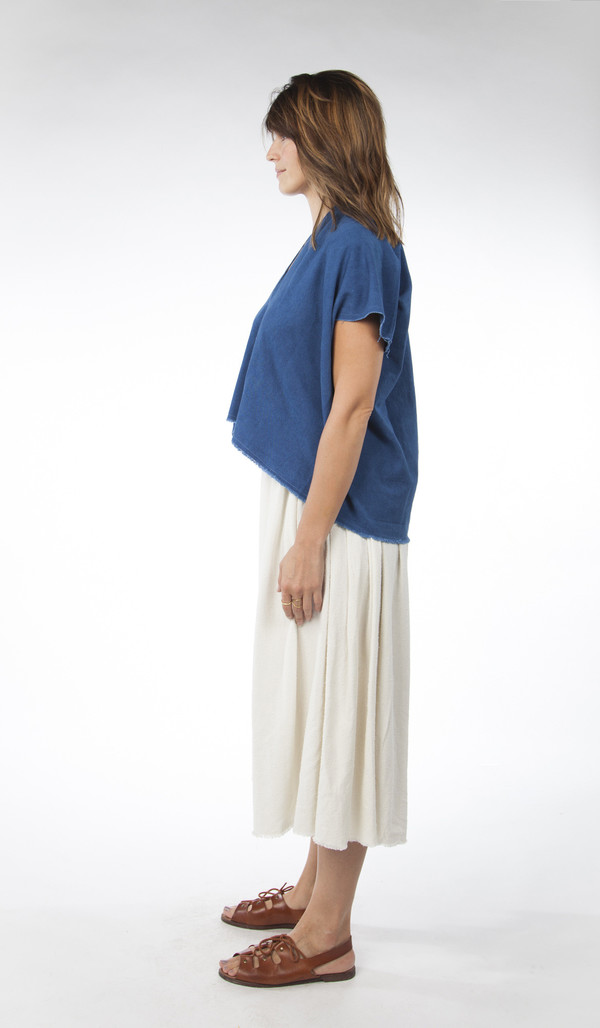 Miranda Bennett Everyday Top, Cropped, Denim in Indigo
