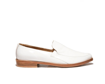 zou xou Loafer in White Patent
