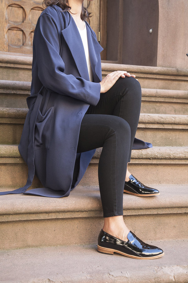Zou Xou Loafer in Black Patent