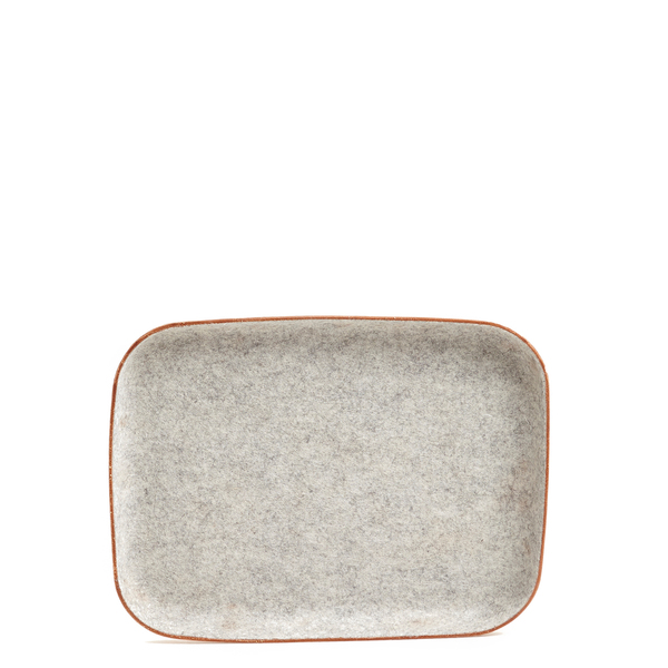 Graf Lantz Kawabon Tray Large Granite Felt / Tan Leather Base