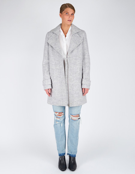 Minimum Berrit Outerwear White Grey Melange