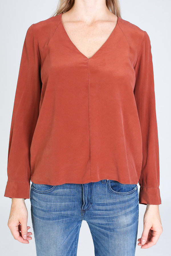 Vincetta V-neck Blouse in Sequoia