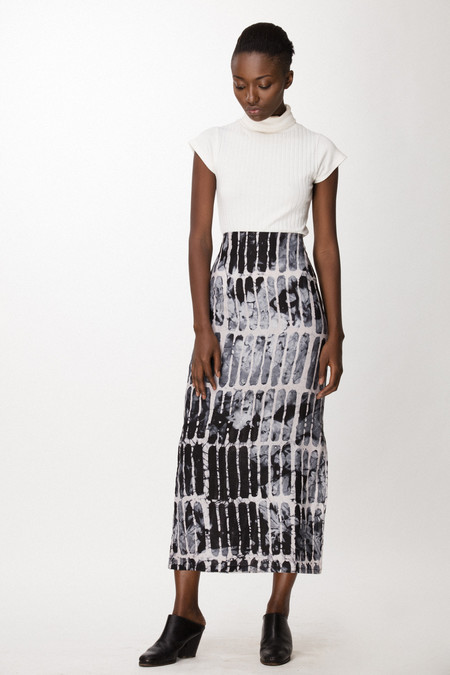 Osei-Duro Column Skirt in Black Chalk