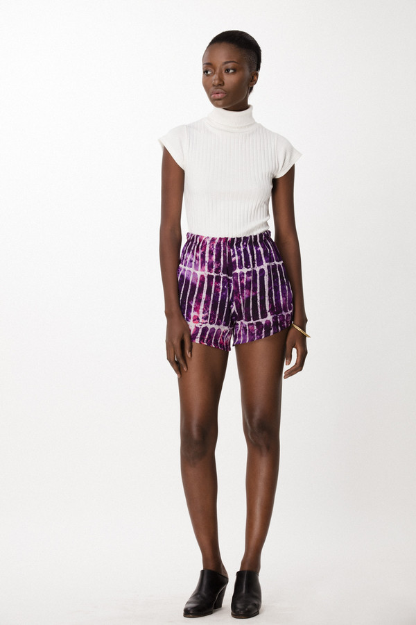Osei-Duro Dash Shorts in Fuchsia Chalk
