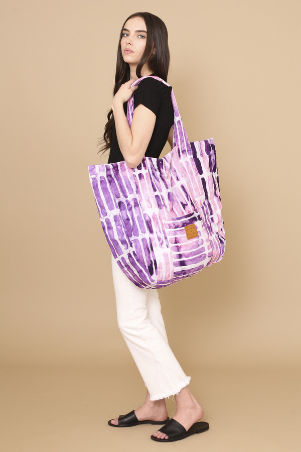 Osei-Duro Magna Carry-All in Fuchsia Chalk