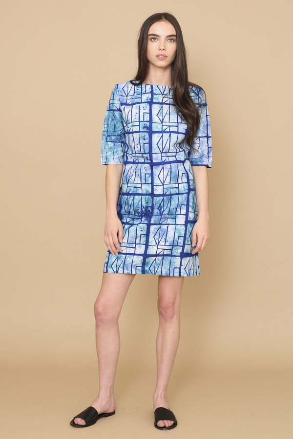 Osei-Duro Muto Dress in Waterbolt