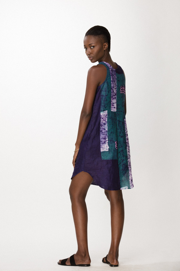 Osei-Duro Runa Dress in Navy Rubics