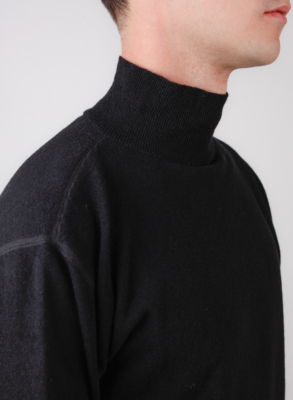 Our Legacy Base Turtleneck Black Merino
