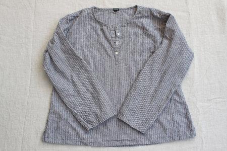 pietsie Basque Shirt in Souk Stripe Linen