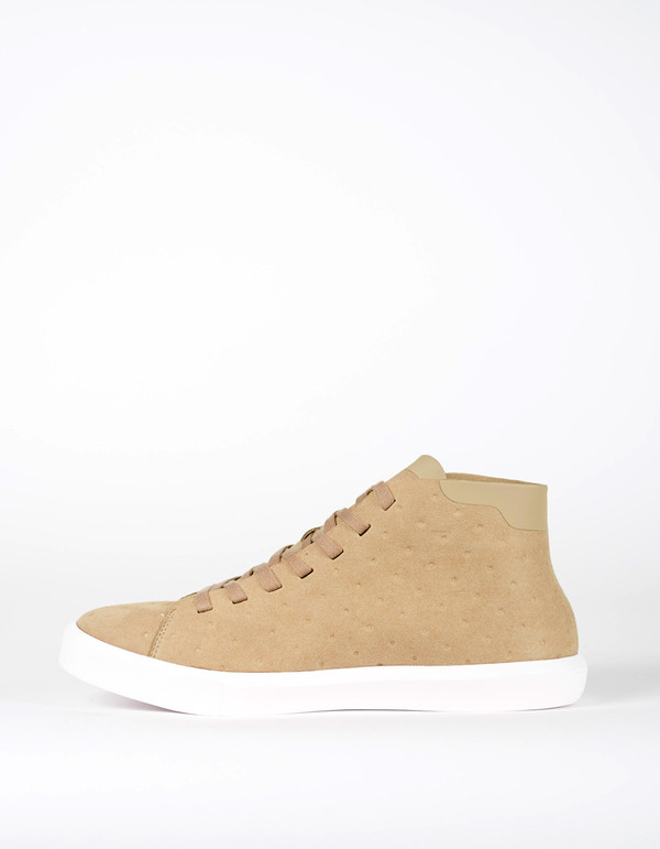 Native Shoes Native Monaco Mid Non Perf Rocky Brown Shell White