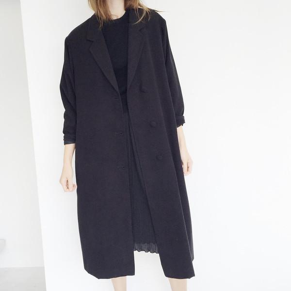Johan Oversized Parisian Black Coat