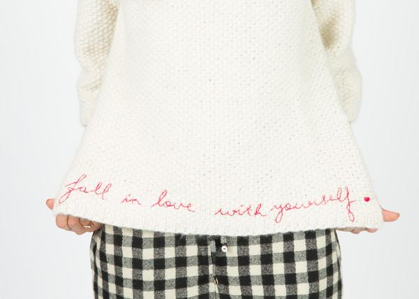 Pero Love Script Knit Sweater