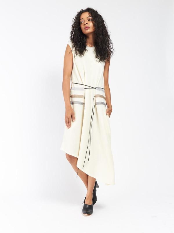 CF Goldman Multi Pull Dress Ivory