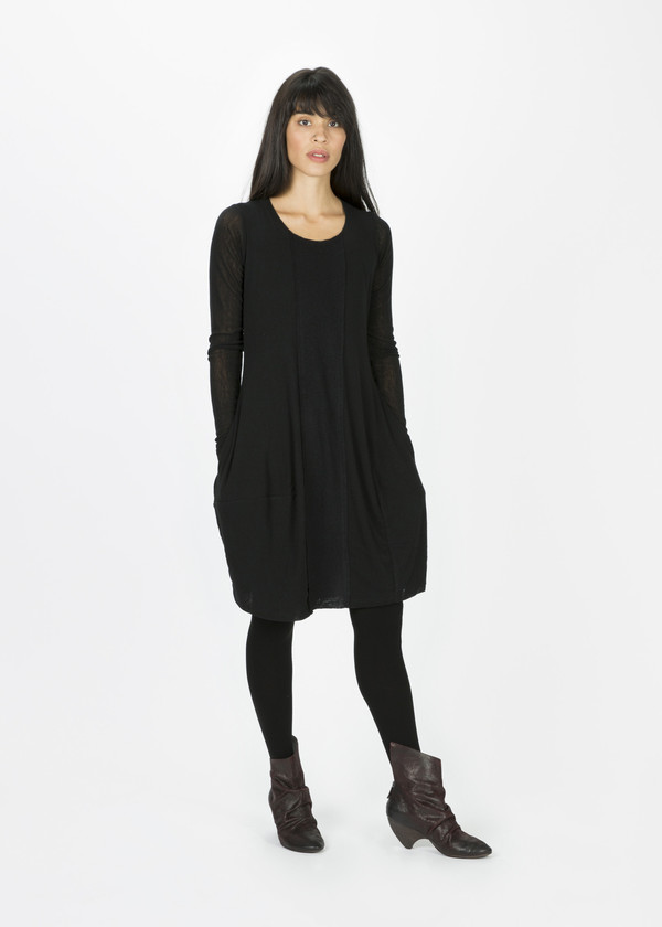 Rundholz Wool Front Panel Dress