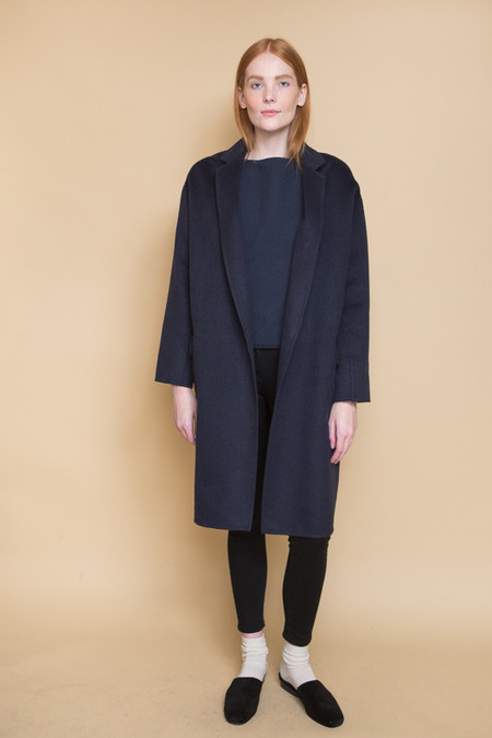 Achro Handmade Long Coat / Navy