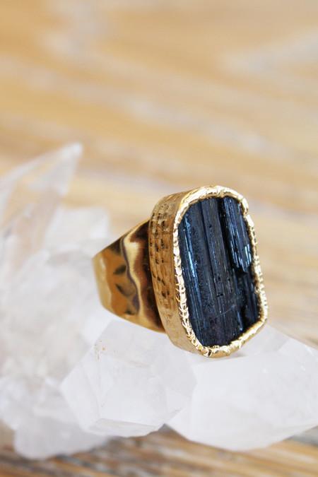 sheila b black velvet tourmaline cocktail ring