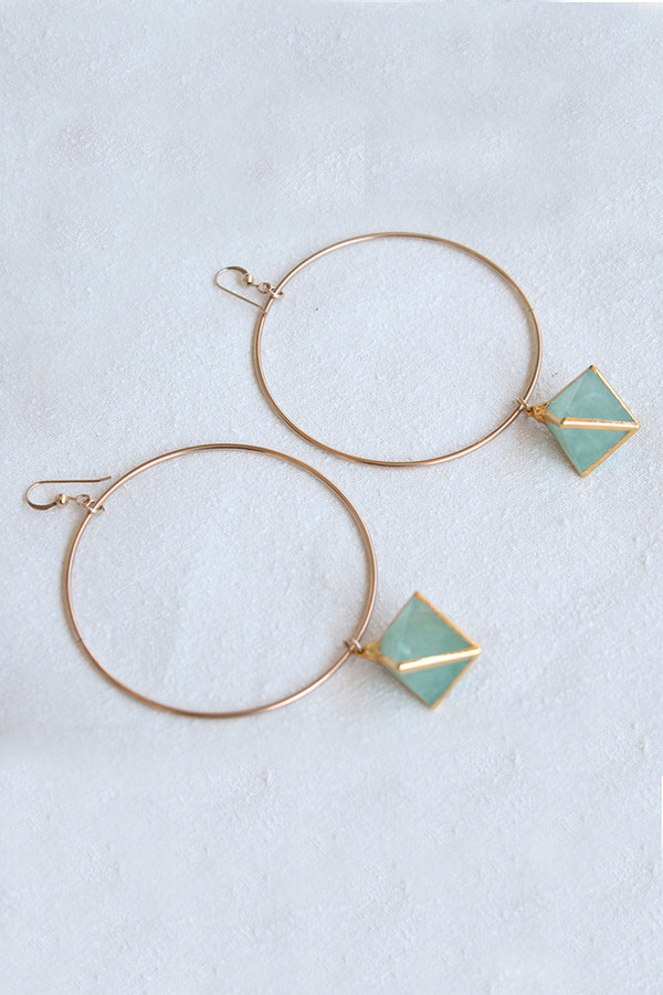 sheila b fluorite hoop earrings