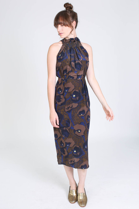 No.6 Store Cecilia cutaway dress in olive calla