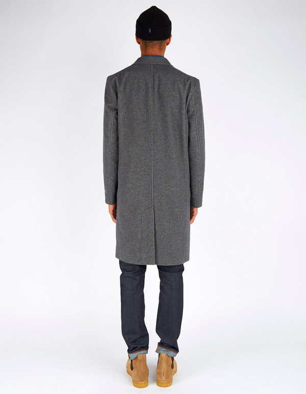 Men's Nudie Waldo Two Tone Coat Grey Melange