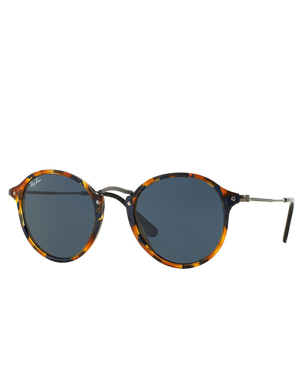 Ray-Ban Round Fleck Sunglasses Tortoise/Blue