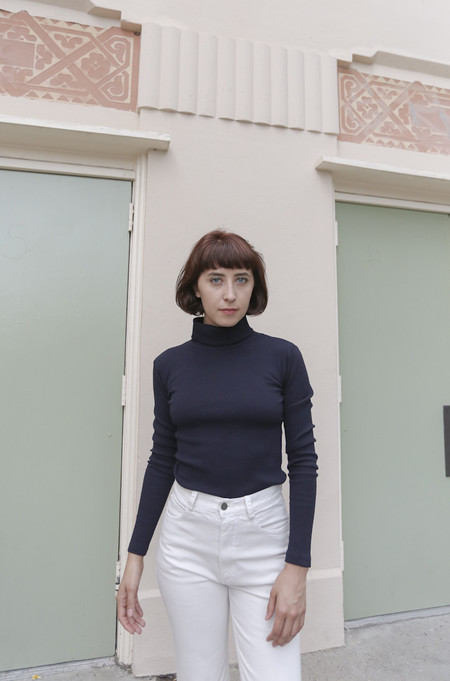Delfina Balda Nova Turtleneck in Navy