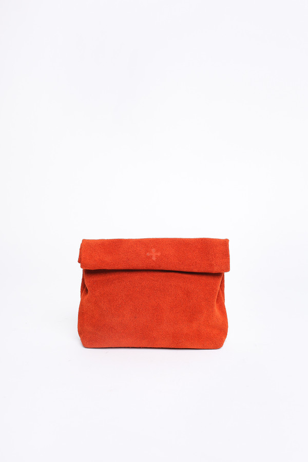 Marie Turnor Snak clutch in paprika suede