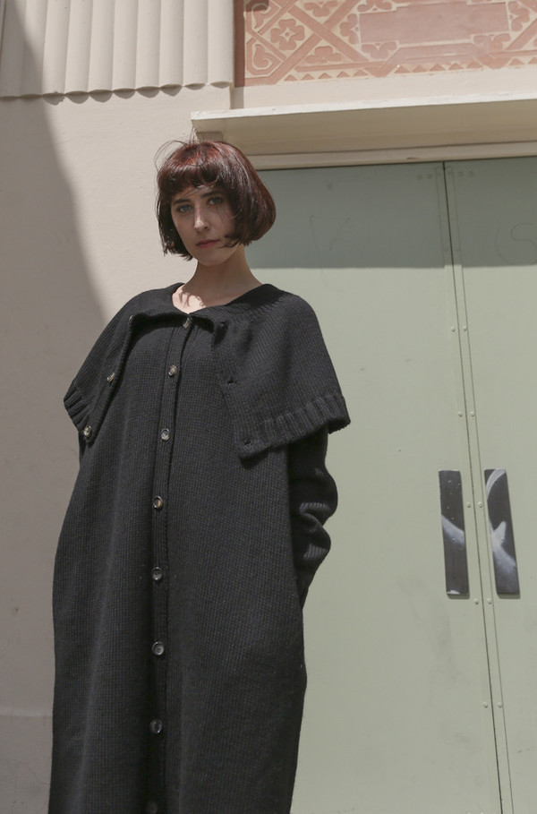 A Détacher Kitty Sweater Dress in Black