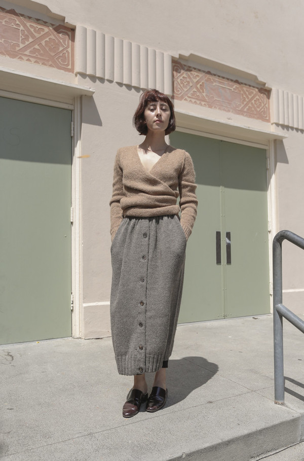 A Détacher Celina Skirt in Taupe