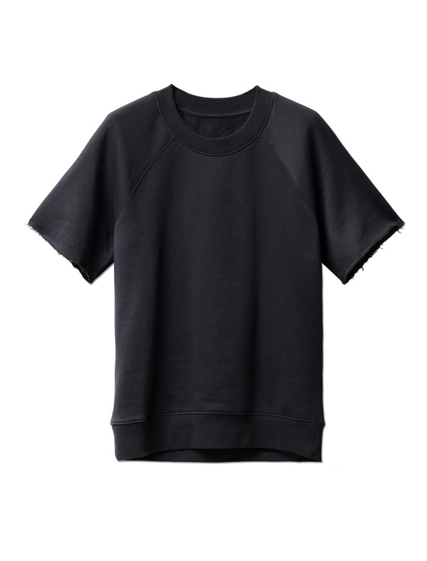 MM6 by Maison Margiela Womens Brushed Sweatshirt Tee Black