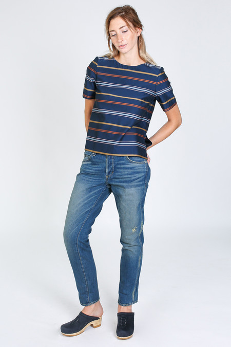 Steven Alan Etch top in multi stripe