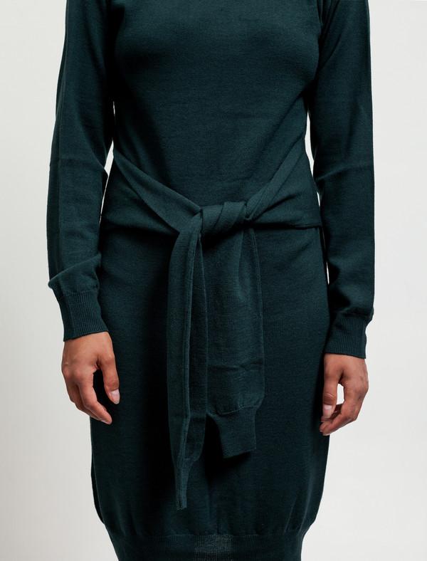 MM6 by Maison Margiela Womens Tie Sleeves Dress Pine